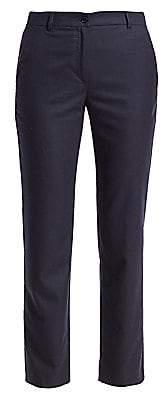Agnona Women's Wool Flannel Straight-Leg Ankle Pants