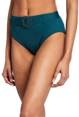 Kate Spade Buckle High-Waist Bikini Bottom