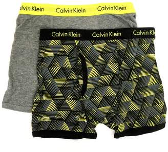 Calvin Klein Little/Big Boys' Assorted Boxer Briefs (Pack of 2) (Large/12-14, )