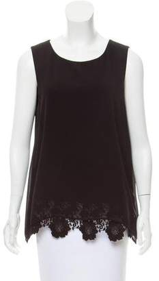Calvin Klein Lace-Trimmed Sleeveless Top