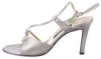Bruno Magli Metallic Leather Sandals