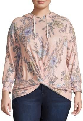 Design Lab Plus Heathered Hooded Sweatshirt