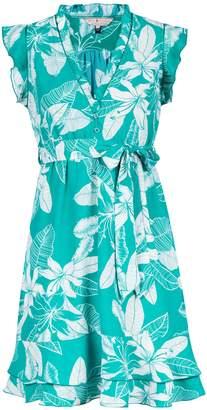 Dorothy Perkins Womens **Billie & Blossom Teal Floral Print Fit & Flare Dress