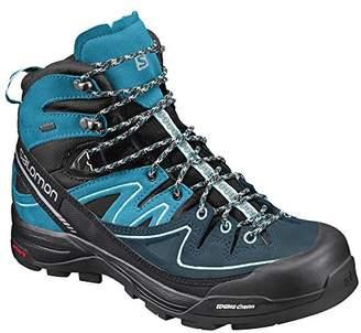 Salomon Women's X Alp Mid LTR GTX W High Rise Hiking Boots, (Black/Hawaiian Ocean/Aruba Blue 000)