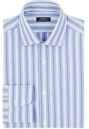 Fairfax Men's Striped Cotton Dress Shirt - Stripe