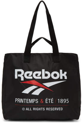 Reebok Classics Black Classic Printemps and Ete Tote