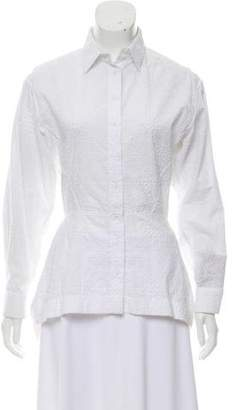 Alaia Embroidered Button-Up Top
