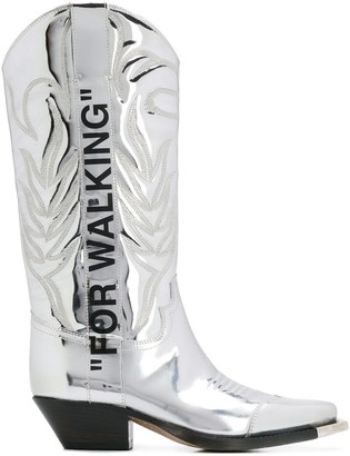 Off-White cowgirl boots