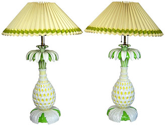 One Kings Lane Vintage Italian Pineapple Lamps - Set of 2 - Acquisitions Gallerie