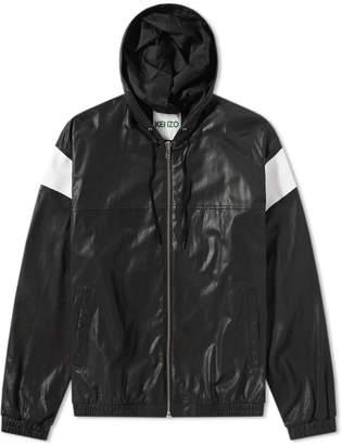Kenzo Lambskin Hooded Leather Jacket