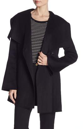 Laundry by Shelli Segal Shawl Collar Wool Blend Coat