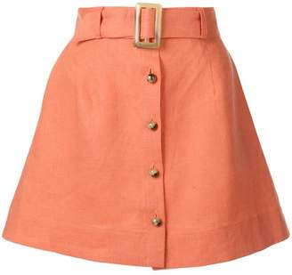 Lisa Marie Fernandez belted a-line skirt