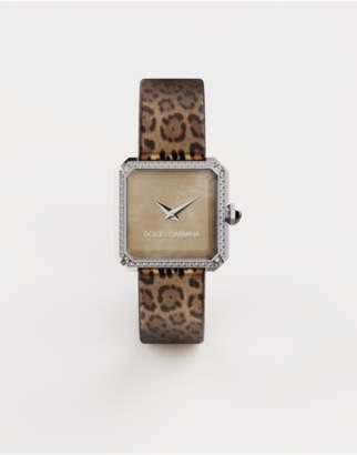 Dolce & Gabbana Steel Watch With Diamonds