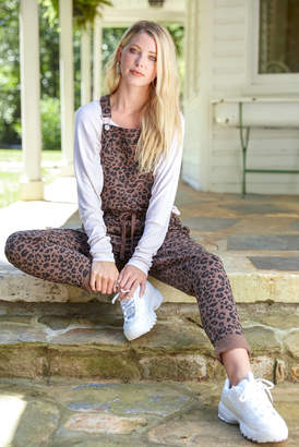 Neely Leopard Knit Overall Brown Multi XS