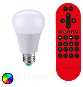 LED-Lampe LOLA E27 6,7W, RGB, 550 Lumen, dimmbar