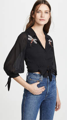 Cynthia Rowley Praia Crop Top