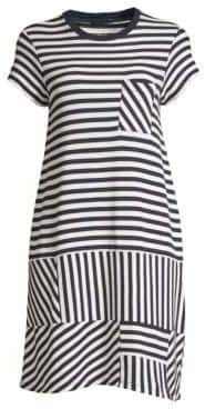 ATM Anthony Thomas Melillo Pique Stripe T-Shirt Dress