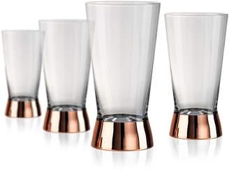 Artland Coppertino Four-Piece Highball Glass Set