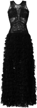 Ermanno Scervino raw lace tiered gown