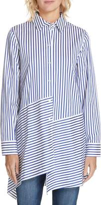 Nordstrom Signature Mix Stripe Cotton Tunic Top