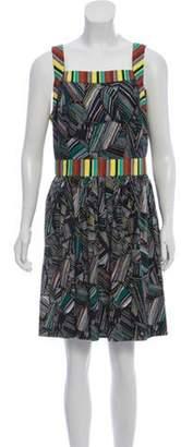 Duro Olowu Printed Knee-Length Dress Black Printed Knee-Length Dress
