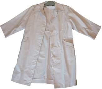 Comptoir des Cotonniers White Cotton Coat for Women