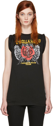 Dsquared2 Black 'Thunder Rose Tour' T-Shirt $295 thestylecure.com