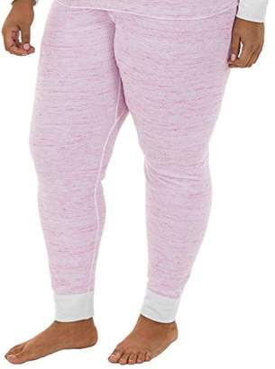 Fruit of the Loom Women's Plus Size Fit for Me Thermal Waffle Bottom