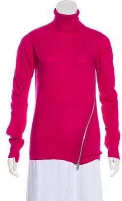 Sacai Semi-Sheer Turtleneck Sweater
