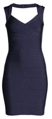 Herve Leger Basics Cocktail V-Neck Bandage Dress