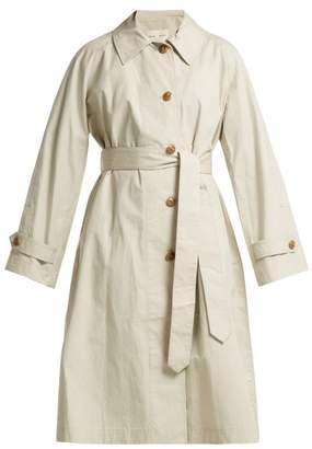 Proenza Schouler Pswl - Single Breasted Cotton Trench Coat - Womens - Grey