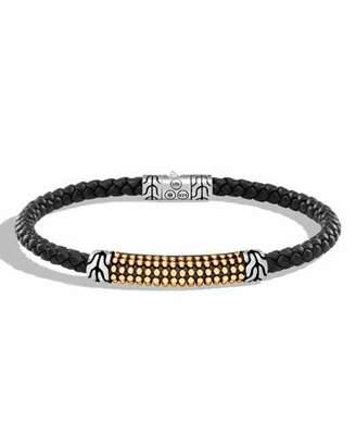 John Hardy Men's Classic Chain Braided Leather Jawan Bracelet