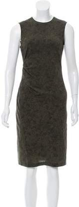 Calvin Klein Collection Printed Silk Dress