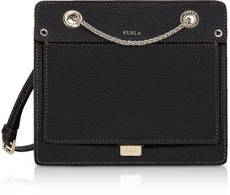 Furla Like Mini Leather Crossbody Bag w/Chain Strap