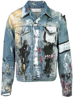 Faith Connexion 'Vandalized' denim jacket