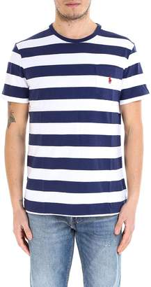 Polo Ralph Lauren Logo Embroidered Striped Crewneck T-Shirt