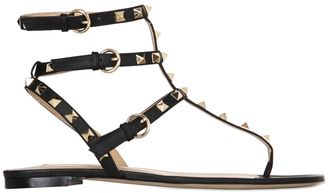 10mm Rockstud Leather Sandals $683 thestylecure.com