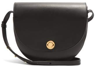 Mansur Gavriel Saddle Leather Shoulder Bag - Womens - Black