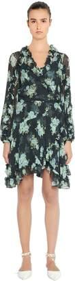 Zimmermann Ruffled Floral Print Silk Dress