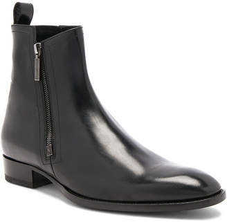 Saint Laurent Leather Wyatt Zip Boots