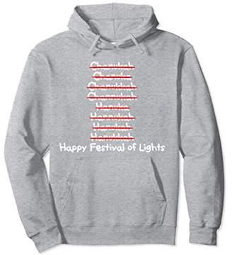 Happy Festival of Lights Hanukkah Spelling Variations Hoodie