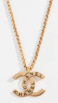 Chanel What Goes Around Comes Around Gold CC Pendant Necklace