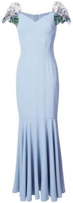 Dolce & Gabbana hydrangea sleeve gown