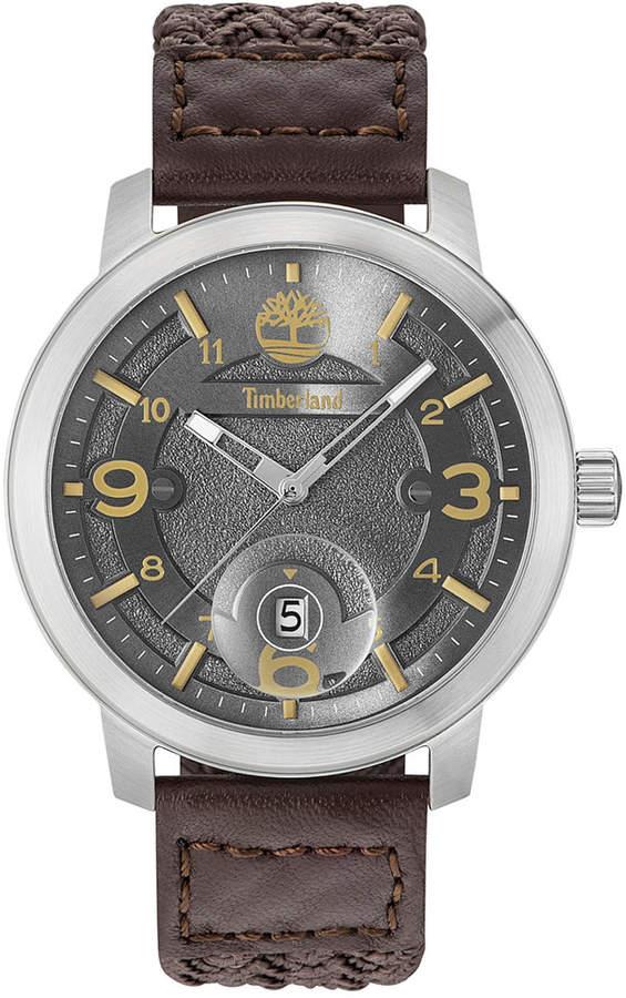 TimberlandTimberland Men's Pembroke Brown Nylon Strap Watch 46mm TBL15017JS13