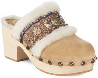 Ash Women's Jade Leather Mules with Fur