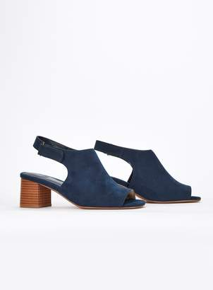 f39031ff8e7 Evans EXTRA WIDE FIT Navy Blue Heel Peep Toe Sandals