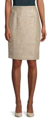 Calvin Klein Tweed Straight Skirt