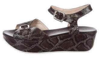 AGL Embossed Platform Wedges
