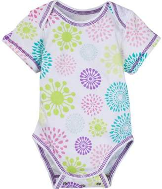MiracleWear Newborn Baby Girl Snap'N Grow Adjustable Short Sleeve Body Suit