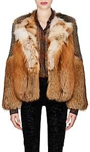 Saint Laurent Women's Fox Fur Jacket - Sand
